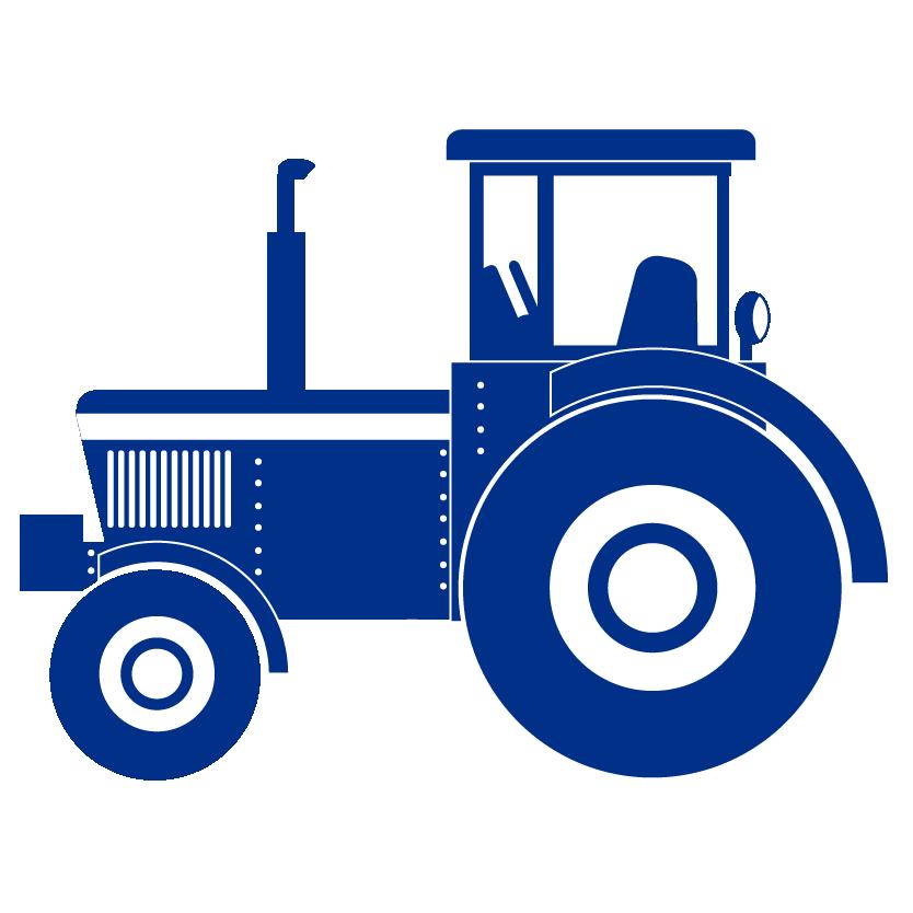 blue tractor icon
