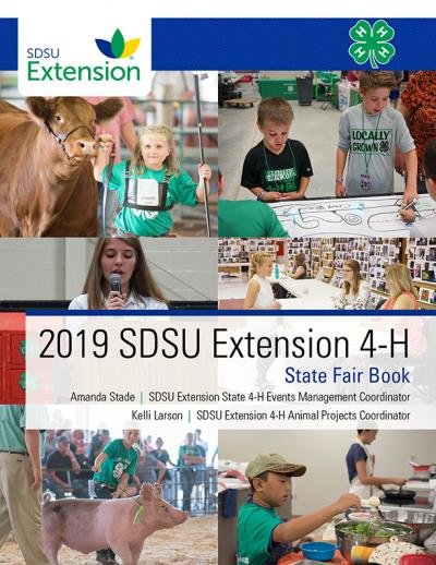 Cover for the 2019 SDSU Extension State Fair book