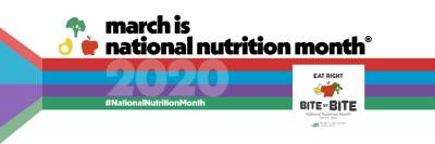 a wordmark promoting March as National Nutrition Month