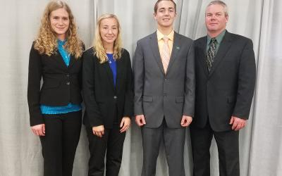 4-H members representing South Dakota competing at the National 4-H Dairy Cattle Judging Contest