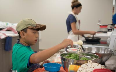 4-H, Special Foods, Youth boy and girl cooking in kitchen, State Fair