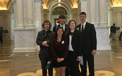 Group of five 4-H teens at National 4-H Confernce in Washington, DC