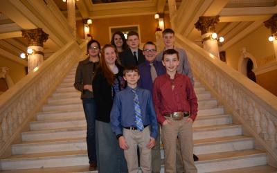 Members of the Jones and Mellette Counties 4-H Junior Leaders group
