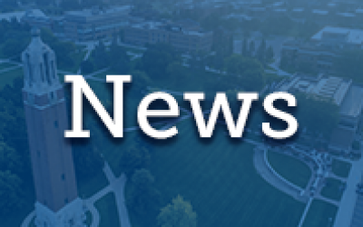 screened image of South Dakota State University campus with News text