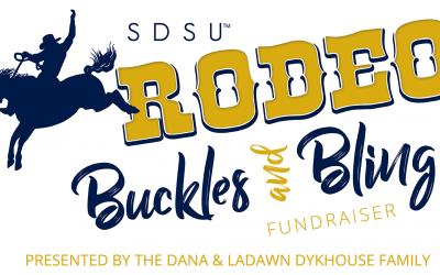 an image with a logo for the SDSU Rodeo Buckles and Bling