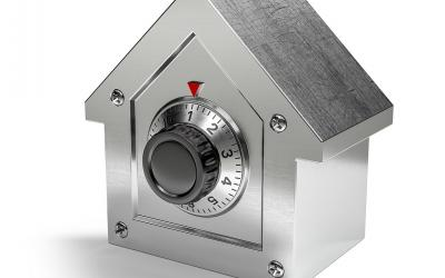 A house-shaped safe.