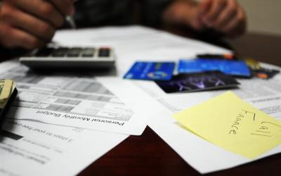 financial paperwork sitting on a desk