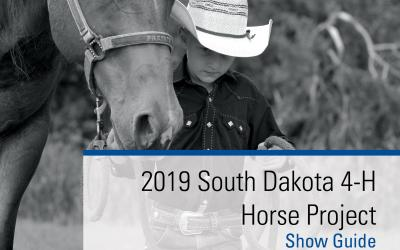 Cover for the 2019 SDSU Extension 4-H Horse Show Guide cover