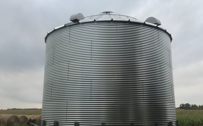 a full grain storage bin