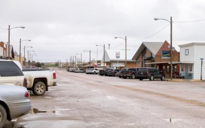 Lemmon SD, A busy Main Street during the 2019 Energize Conference