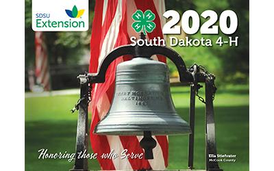 an image of the cover of the 2020 South Dakota 4-H calendar
