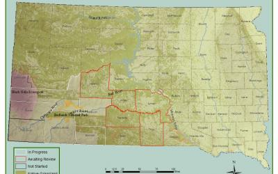 a map of South Dakota's grasslands.