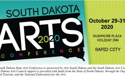 a wordmark for the the 2020 South Dakota State Arts Conference