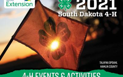 the cover of the 2021 South Dakota 4-H calendar