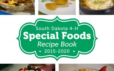 the cover of the South Dakota 4-H Special Foods Recipe Book